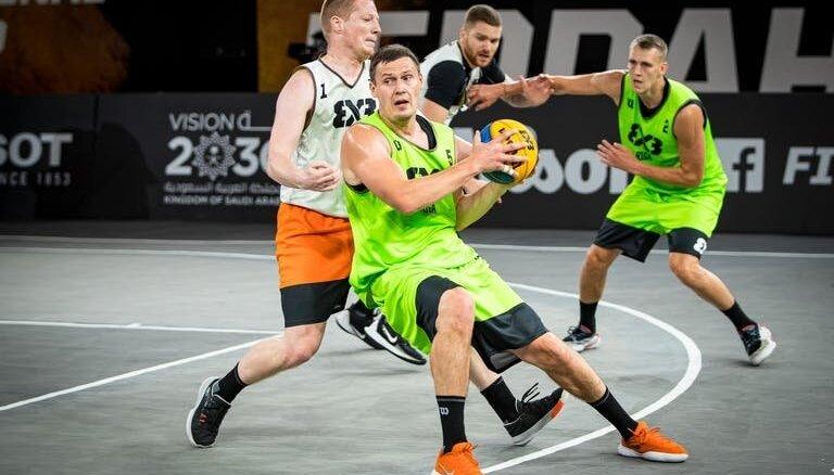 3x3 basketbola komanda 'Rīga' zaudē Vienotās Eiropas līgas posma finālā