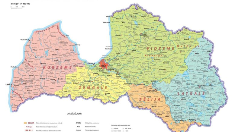 Pirmo reizi likumā nosaka piecu vēsturisko zemju robežas; nesakrīt ar pašvaldību robežām