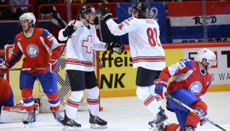 Šveices izlase uzvaru sēriju turpina arī pret Norvēģiju