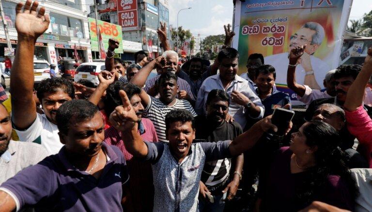 Šrilankas prezidenta vēlēšanās uzvarējis opozīcijas kandidāts Gotabaja Radžapaksa