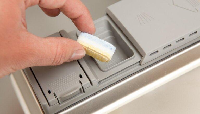 Mājās gatavotas tabletes trauku mazgājamai mašīnai
