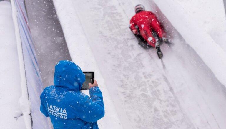 Sniegputeņa dēļ atceļ piektdien plānoto Pasaules kausa posmu skeletonā