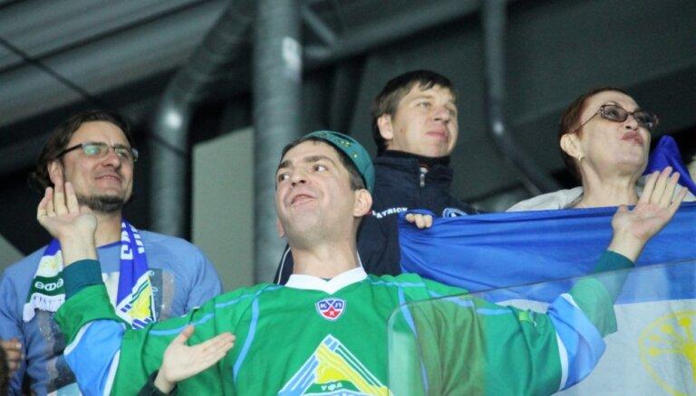 Dažu stundu laikā izpārdod Gagarina kausa spēli starp Ufas 'Salavat Julajev' un 'Avangard'