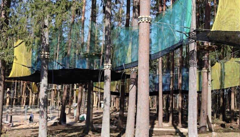 ФОТО. В природном парке Тервете в этом году появятся трассы с препятствиями и сеточный парк