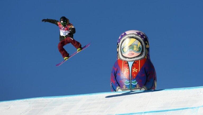 XXII Ziemas olimpisko spēļu rezultāti snovbordā vīriešiem 'slopestyle' disciplīnā (08.02.2014)