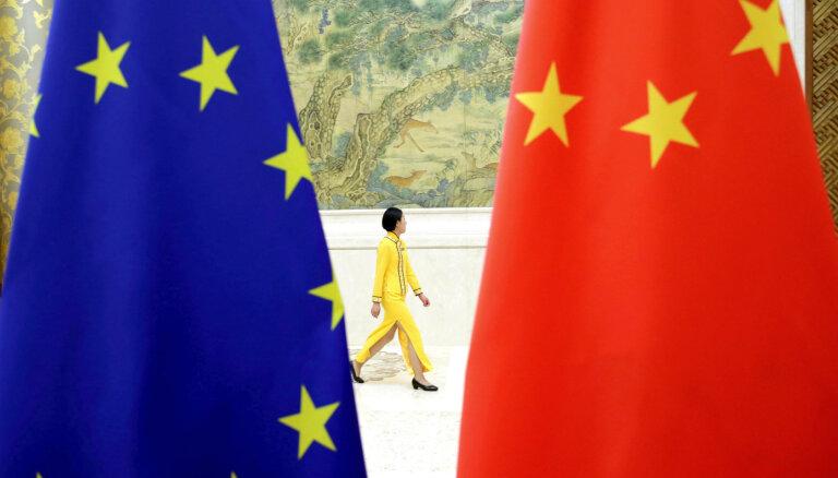 ES un Ķīna panākusi principiālu vienošanos par investīciju nolīgumu