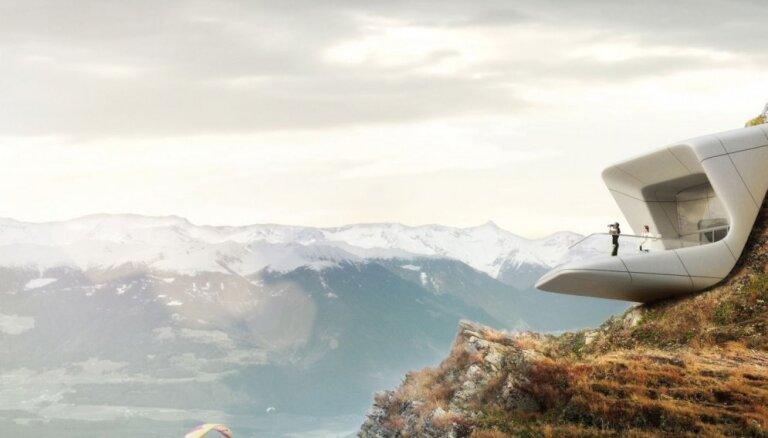 Augstā kultūra burtiskā nozīmē - gleznainā Alpu virsotnē atklāts interesants muzejs kalnos kāpšanai
