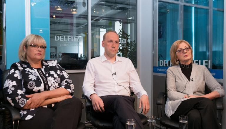 'Delfi TV ar Jāni Domburu': saruna ar Skaidrīti Ābramu, Mārtiņu Krieviņu un Ilzi Jurču
