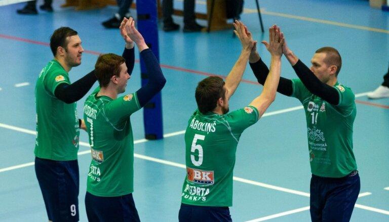 'Credit24' volejbola meistarlīga: 'Jēkabpils Lūši' zaudē 'Saaremaa', RTU/Robežsardze uzvar Rakveri