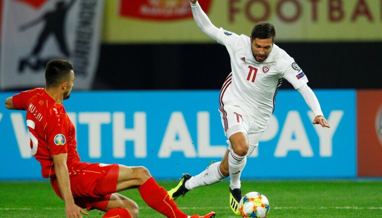 Nosaukti Latvijas futbola izlases kandidāti mājas spēlēm pret Izraēlu un Slovēniju