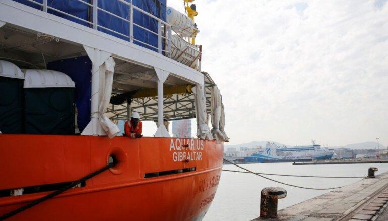 Uz migrantu glābšanas zonu Vidusjūrā atkal dosies kuģis 'Aquarius'
