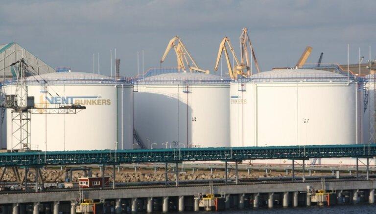 Ventspils ostā par gandrīz 24% samazinājies kravu apgrozījums