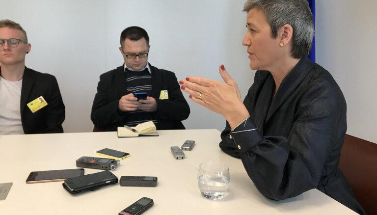 'Lai Francija un Vācija nepārņemtu ES' — Vestagere par spēku samēru pēc vēlēšanām