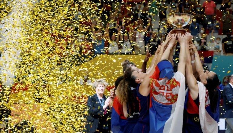 Serbijas basketbolistes atgriežas Eiropas čempioņu tronī