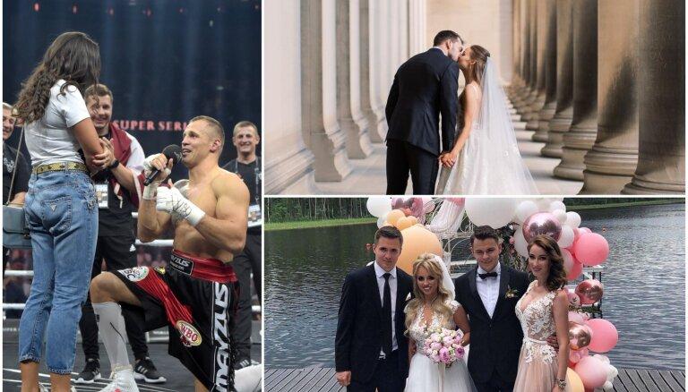 Vasara mīlas zīmē: slavenu latviešu skaistākās kāzas un bildinājumi