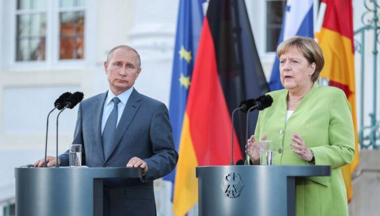 Merkeles un Putina sarunās nav panākti skaidri izteikti rezultāti