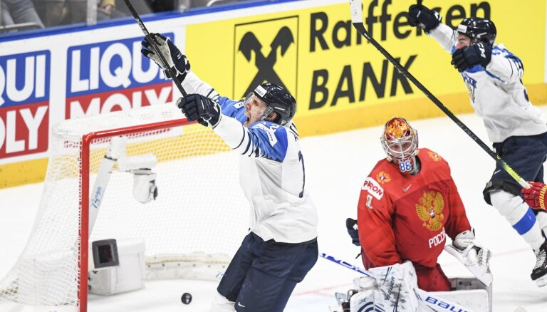 Somija notur savus vārtus neiekarotus un pārspēj Krieviju par vietu finālā