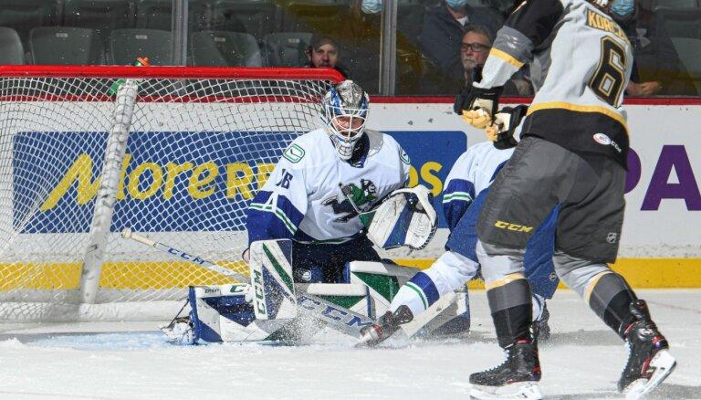 Šilovam pirmā 'sausā' spēle AHL, Rubīnam rezultatīva piespēle