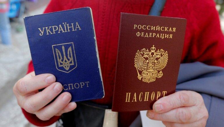 Krievijā atvērts pirmais pasu izsniegšanas punkts Donbasa iedzīvotājiem