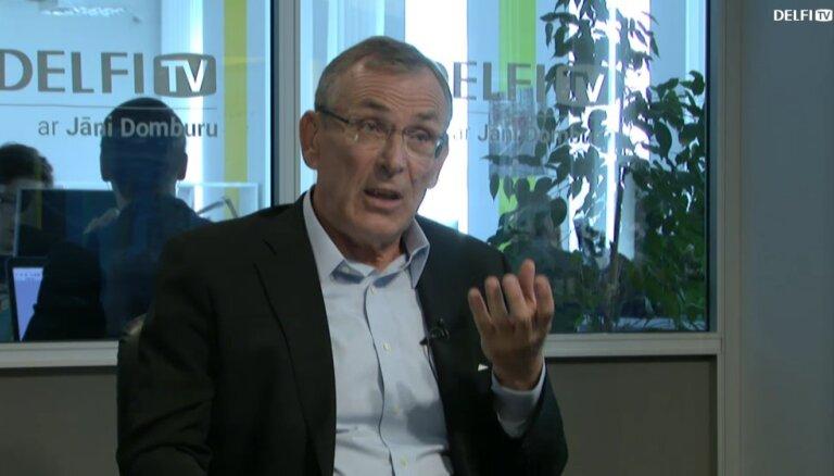 """Андрис Пиебалгс на Delfi TV: """"Мы свободны, мы горды собой, и способны себя реализовать"""""""