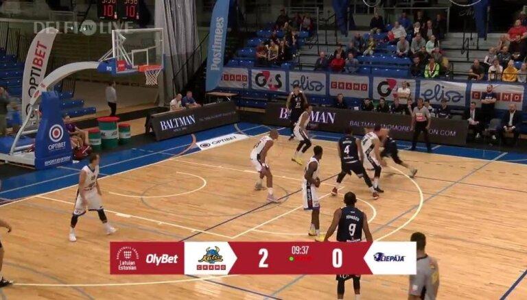 'Liepājai' Latvijas - Igaunijas Basketbola līgas spēlē smags zaudējums Tallinā