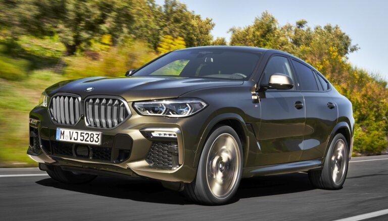 Jaunais 'X6' ir pirmais BMW ar izgaismotu radiatora dekoratīvo režģi
