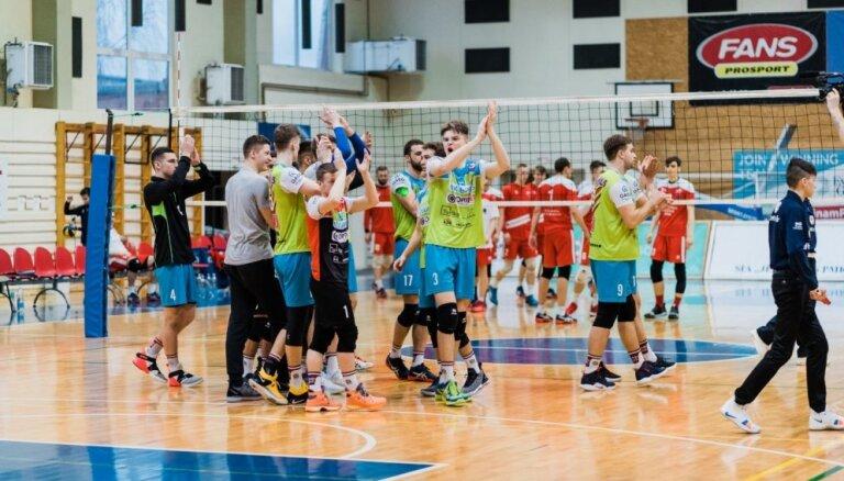 'Lūšu' volejbolisti iekļūst Latvijas čempionāta fināla