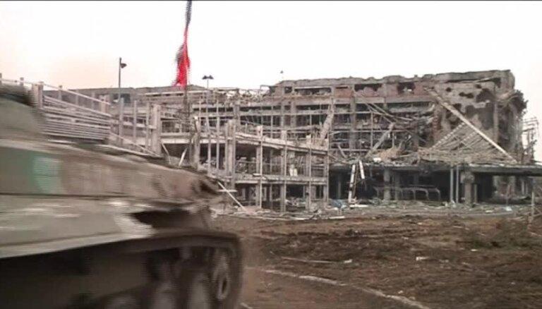 Doņeckas lidostas drupās joprojām ir Ukrainas karavīru mirstīgās atliekas