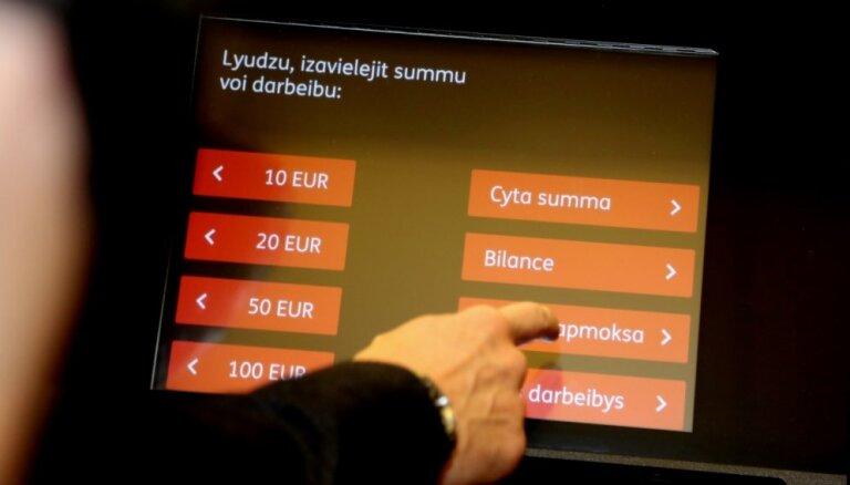 Foto: 'Citadeles' bankomātos ievieš latgaliešu valodu
