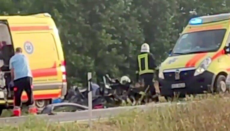 Babītes pagastā svētdien notikusi avārija ar diviem bojāgājušajiem