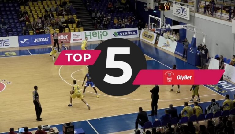 'OlyBet' basketbola līgas nedēļas TOP 5 (26.03.2019.)