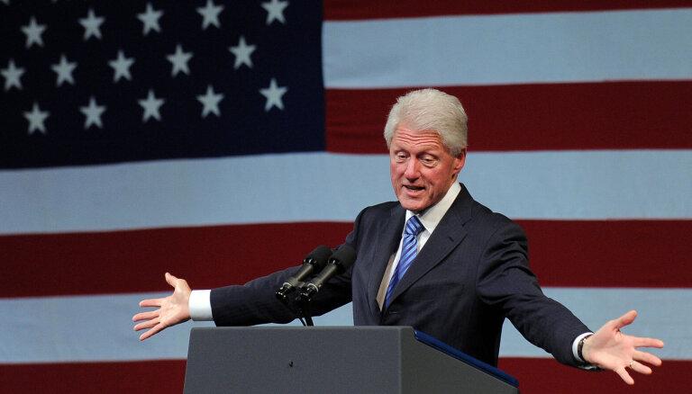 Hospitalizēts bijušais ASV prezidents Bils Klintons