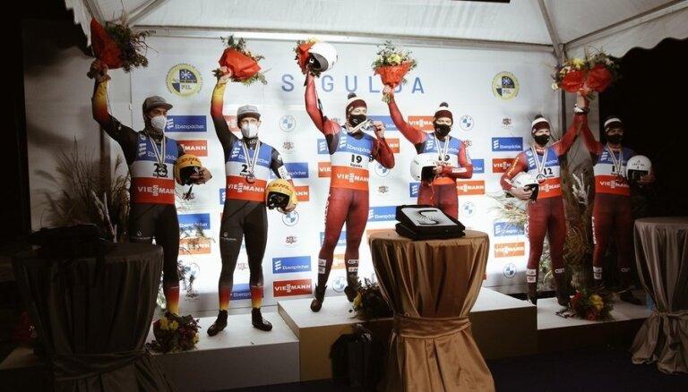 Саночники Шицсы стали чемпионами Европы
