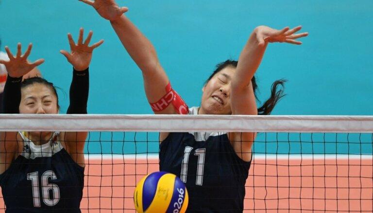 Riodežaneiro vasaras olimpisko spēļu sieviešu volejbola turnīra ceturtdaļfinālu rezultāti (16.08.2016)