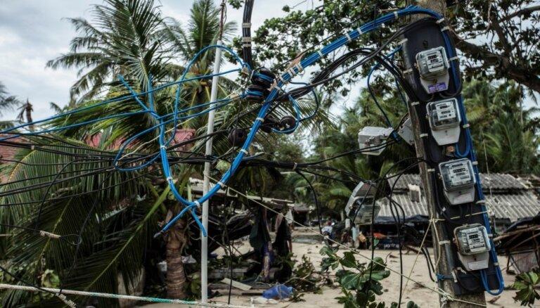 Tropiskās vētras 'Pabuk' dēļ Taizemē evakuēti 30 000 cilvēku