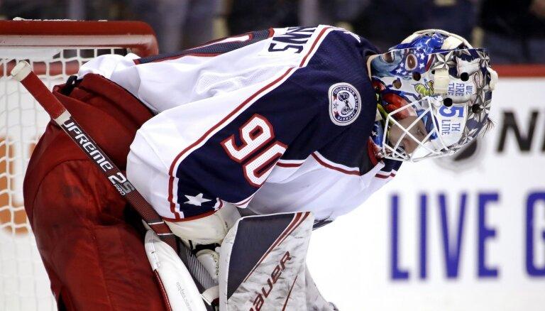 Merzļikins: Sentluisa demonstrēja man sarežģītu hokeju