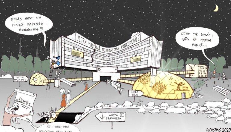 RTU arhitekti: Nacionālā koncertzāle – sasteigts kompromisa risinājums
