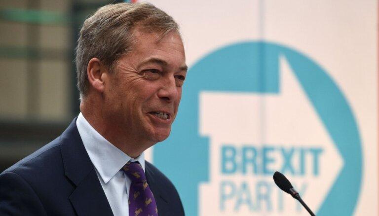 Farāžs uzsāk oficiālo jaundibinātās 'Brexit' partijas kampaņu pirms iespējamajām EP vēlēšanām