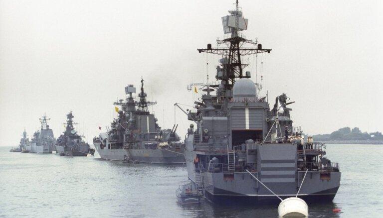 Корабль ВМФ России замечен на пути в Азовское море