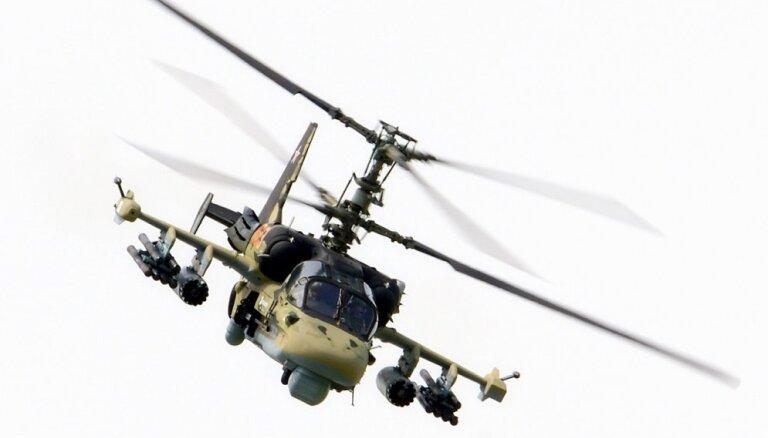 Baltijas jūrā nogāžas Krievijas kara helikopters 'Ka-29'