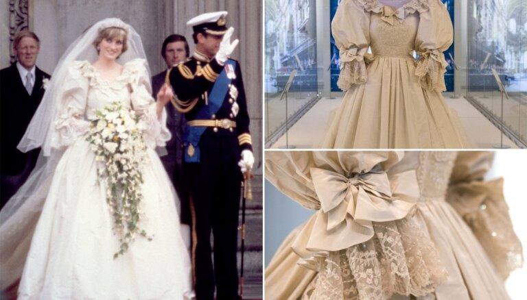 Pirmo reizi tuvumā aplūkojama princeses Diānas kāzu kleita