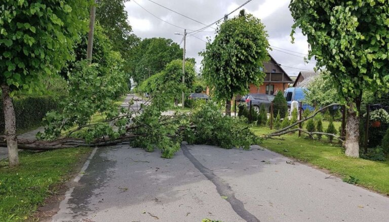 Igaunijā spēcīga vēja dēļ bez elektrības palikuši 20 000 mājsaimniecību