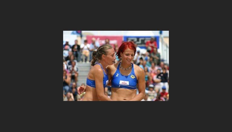 Pludmales volejbolistes Minusa un Jursone dala 17. vietu Pasaules kausa posmā