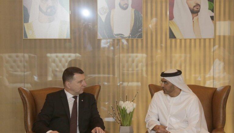 Valsts prezidents Dubaijā aicina veicināt Latvijas un AAE uzņēmēju sadarbību