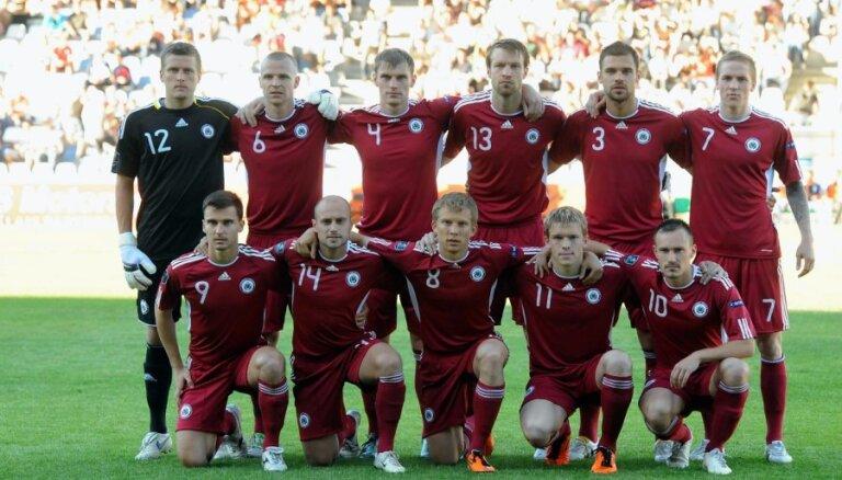 Latvijas futbolisti EURO 2012 atlases priekšpēdējā spēlē uzņems Maltu