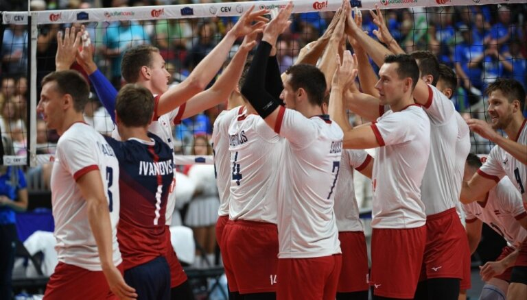 Latvijas volejbolisti nākamsezon startēs spēcīgajā Eiropas Zelta līgā