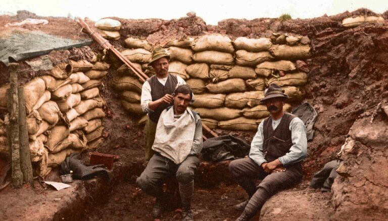 Цветные фотографии первой мировой войны оживляют истории 100-летней давности