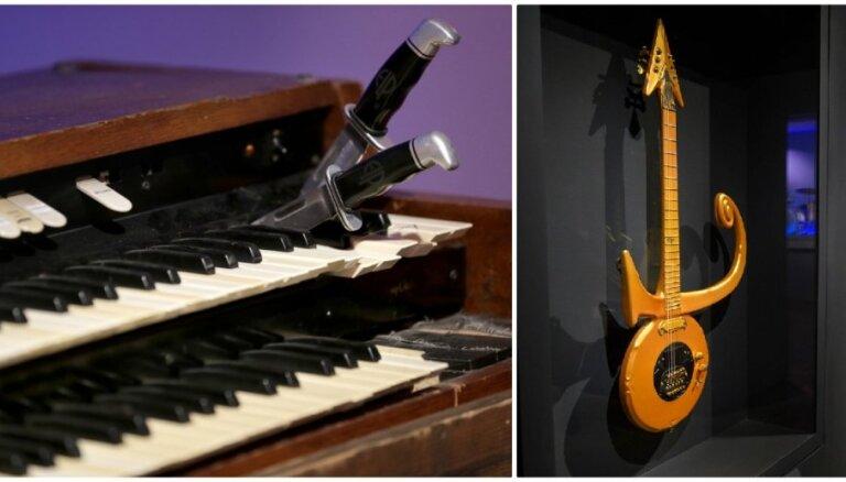Foto: No Preslija līdz Lady Gaga – 130 leģendāri mūzikas instrumenti vienuviet