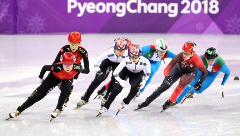 XXIII Ziemas olimpisko spēļu rezultāti šorttrekā 3000 m stafetē sievietēm (20.02.2018.)