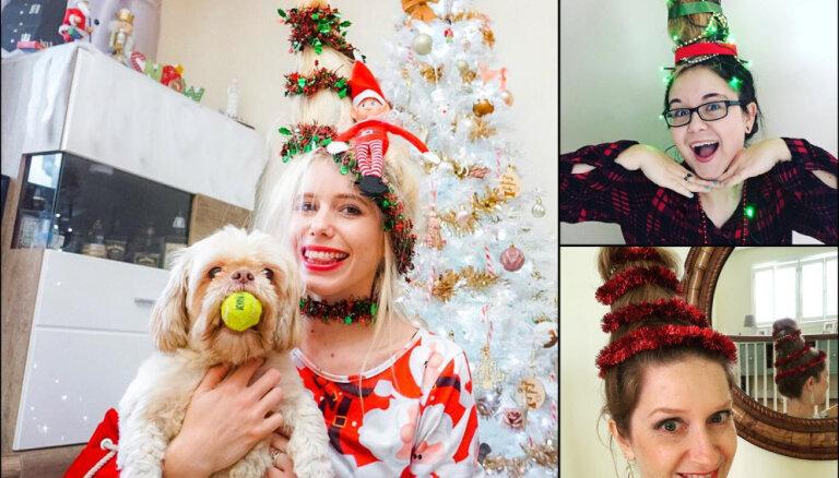 ФОТО. Новый год на голове, или Как превратить волосы в настоящую новогоднюю елку